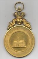 Médaille Commémorative. La Fraternelle Ouvrière De Schaerbeek. Inauguration Du Drapeau. 1894 - Profesionales / De Sociedad