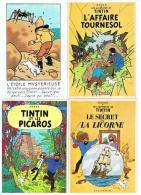 TINTIN  :   8  CARTES  POSTALES  -  NR  2/4/61/0/21/25/40/SOVJETS - Tintin