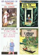 TINTIN  :    6  CARTES  POSTALES  -  NR  2/4/10/21/25/SOVJETS - Tintin
