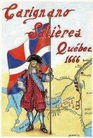 [DC0024] CARTOLINEA - MOLTO RARA - CARIGNANO SALIERES - 1200 SOLDATI PIEMONTESI SAVOIARDI E LORENESI IN SPEDIZIONE - Storia