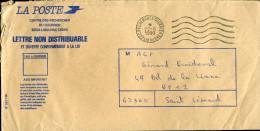 Flamme SERVICE CLIENT COURRIER 33 LIBOURNE 1990 Sur Enveloppe Du Service Recherches Courrier Lettre Non Distribuable - Annullamenti Meccanici (pubblicitari)