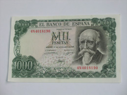 1000 Pesetas - Mil Pestas - UNC !!!! - ESPAGNE-  17.09.1971. El Banco De ESPANA **** EN ACHAT IMMEDIAT **** - [ 3] 1936-1975 : Régence De Franco