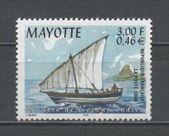 MAYOTTE 2000  N° 81 ** Neuf = MNH Superbe Bateaux Boats Ships Boutre Transports - Nuovi