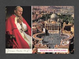 RELIGIONS - PAPES - LE PAPE JEAN PAUL II - POPE GIOVANNI PAOLO II - SALUTI DAL VATICANO - FOTO KARSH OF OTTAWA - Papes