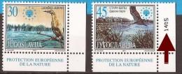 2001  3034-35  EUROPA WWF   JUGOSLAVIJA JUGOSLAWIEN JUGOSLAVIA EUROPA BIRDS  PROTECTION NATURE  NEVER HINGED - W.W.F.