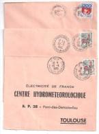 PYRENEES ORIENTALES - Lot De 8 Lettres Avec Cachets Pointillés Ou Hexagonaux - Marcofilia (sobres)