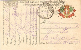 P.M.1915/1923-CARTOLINA FRANCHIGIA  - POSTA MILITARE 6° CORPO ARMATA - 1900-44 Vittorio Emanuele III