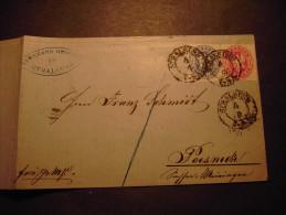 Preußen Mi. 16+17 A.Faltbriefhülle 1864 V. Stralsund Nach Poesneck, 1 Sgr.unten Schere - Preussen