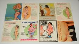 Lot 23 Cartes Postales  - Femmes - Hommes - Nue - Nus - Illustrateurs - Humours - Dessins