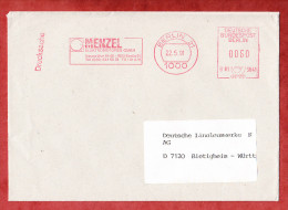 Drucksache, Francotyp-Postalia B81-3641, Menzel Elektromotoren, 60 Pfg, Berlin 1991 (59286) - Berlin (West)