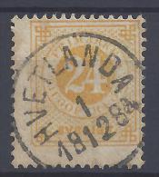 SUEDE -  1872-85 - N° 22 (A)  DENTELE 13 - OBLITERE 1er CHOIX - TB - - Suède