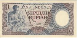 Indonesia 10 Rupian 1958 Pick 56 UNC - Indonesië