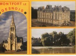Montfort-le-Gesnois.. Belle Multi-vues.. L'Eglise Notre-Dame.. Le Château.. Le Moulin Sur L'Huisne.. Moulin à Eau - Montfort Le Gesnois