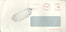 EMA Toulaville 1994 + Griffe L'EXPEDITEUR DE CET OBJET NE CONNAIT PAS ENCORE VOTRE NUMERO DE BOITE POSTALE NI VOTRE .... - Marcophilie (Lettres)