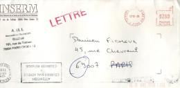EMA Paris 1995 + Flamme ATTENTION COURRIER MAL SDRESSE = COURRIER RETARDE De Ecole Militaire Paris - Annullamenti Meccanici (pubblicitari)