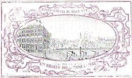 LIEGE   1  Carte Pocelaine  Liège    Grand Hôtel De Belle Vue Tenu Par Riegels Delafosse  Litho Lemonnier - Lüttich