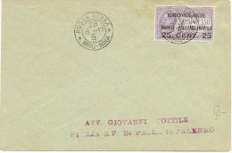 LANV8- ITALIE AEROGRAMME NAPOLI / PALERMO 28/6/1917 - 1900-44 Victor Emmanuel III