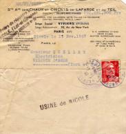 Nicole (Lot Et Garonne) - Courrier De Sté Ame Chaux Et Ciment De Lafarge Et Du Teil - Timbré  Circulé - Old Paper