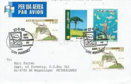 San Marino 1999 Riccione Philatelic Exhebition UFO Pinus Tree Bonsai Cover - San Marino