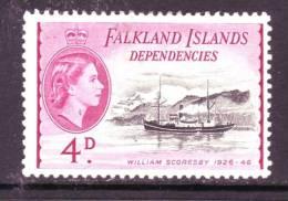 Falkland Islands Dependencies  1L25  *  SAILING SHIP WILLIAM SCORESBY - Falkland Islands