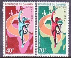 DAHOMEY  C  127-8  (o)   EURO AFRICA MAP - Benin - Dahomey (1960-...)