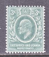EAST AFRICA AND UGANDA  PROTECTORATES  32  *  Wmk 3   Gray - Kenya, Uganda & Tanganyika