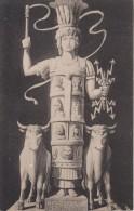 carte postale ancienne,asie,asia,liban, lebanon,temple de baalbek,balbeck,balback,p laine b�kaa,jupiter ,statue granite