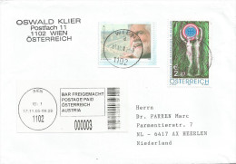 Austria Osterreich 2005 Vienna Barcoded Postage Paid EMA Meter Franking Cover - Marcofilie - EMA (Print Machine)