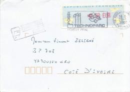 France 2002 Poissy Avions En Papier Meter Franking EMA Cover - 2000 «Avions En Papier»
