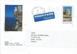 France 2006 Paris Corse Castle Tower PAP Cover - PAP:  Varia (1995-...)