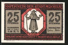 Notgeld Mücheln 1921, 25 Pfennig, St. Jacobus, Steinbild Am Hause Markt 15 - [11] Emissions Locales