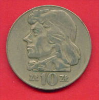 F4325 / - 10 Zlotych - 1970  -  Poland Pologne Polen Polonia - Coins Munzen Monnaies Monete - Polonia
