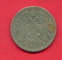 F3293A / - 20 Heller  - 1895  -  Austria Osterreich Autriche - Coins Munzen Monnaies Monete - Austria