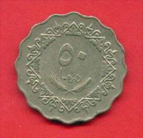 F4329 / - 50 Dirhams  - 1395 / 1975  - Libia Libya Libyen Libye Libie - Coins Munzen Monnaies Monete - Libye