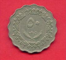 F4330 / - 50 Dirhams  - 1395 / 1975  - Libia Libya Libyen Libye Libie - Coins Munzen Monnaies Monete - Libye