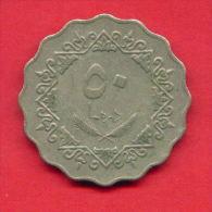 F4331 / - 50 Dirhams  - 1395 / 1975  - Libia Libya Libyen Libye Libie - Coins Munzen Monnaies Monete - Libye