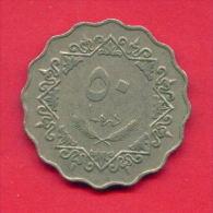 F4332 / - 50 Dirhams  - 1395 / 1975  - Libia Libya Libyen Libye Libie - Coins Munzen Monnaies Monete - Libye
