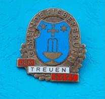 Old Hard Enamel Badge - KARL PICHL - GEMEINDE FIEBERBRUNN - Shield, Blason - Städte