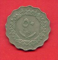 F4337 / - 50 Dirhams  - 1395 / 1975  - Libia Libya Libyen Libye Libie - Coins Munzen Monnaies Monete - Libye