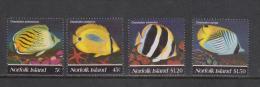 Norfolk Island 1995 Fish Set 4 MNH - Isola Norfolk