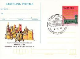 Cartolina Postale : MANTUA '92  No Viaggiata; Annullo Fdc Roma Filatelico - Postwaardestukken