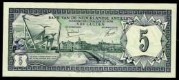 Netherlands Antilles 5 Gulden 1972 Pick 8b UNC - Paesi Bassi