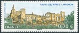 FRANCE 2009 - YT N° 4348 MNH ** (Variété Pos 10) 2 Bdes PHOSPHORE BRISÉES - PALAIS DES PAPES AVIGNON (VOIR EXPLICATIONS) - Errors & Oddities