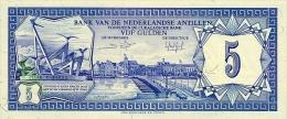 Netherlands Antilles 5 Gulden 1984 Pick 15b UNC - Paesi Bassi