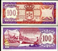 Netherlands Antilles 100 Gulden 1981 Pick 19b UNC - Paesi Bassi
