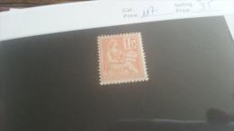 LOT 216819 TIMBRE DE FRANCE NEUF** N�117 VALEUR 35 EUROS