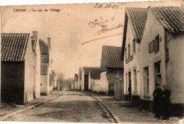 LIEGE    1  CP  Lincent  La Rue De Village  1906 - Lincent