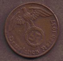DEUTSCHES REICH 1 REICHSPFENNIG 1937 A - 1 Reichspfennig