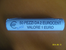 EURO  ROTOLINO DA 2 CENTESIMI ANNO 2002  (ITALIA) - Rotolini
