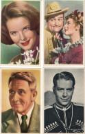 ACTEURS ET ACTRICES DE LA M.G.M LOT DE 78 CHROMOS KWATTA SERIE C ( Clarck Gable Katharine Hepburn etc )